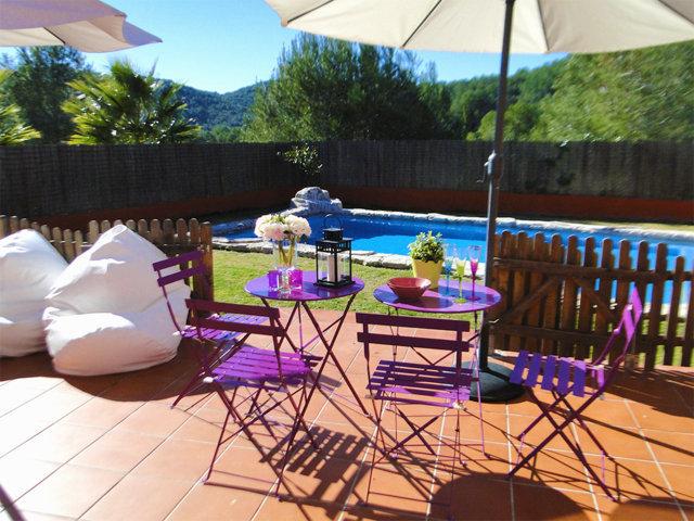 chalet para vacaciones en Sitges y sus desayunos