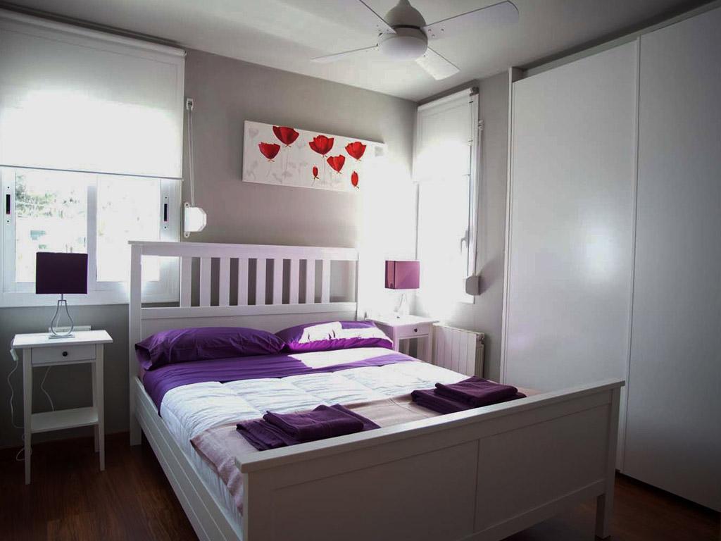 Location de villa à sitges: chambre double avec lit double