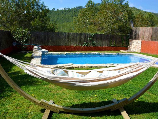 Hamaca del chalet para vacaciones en Sitges