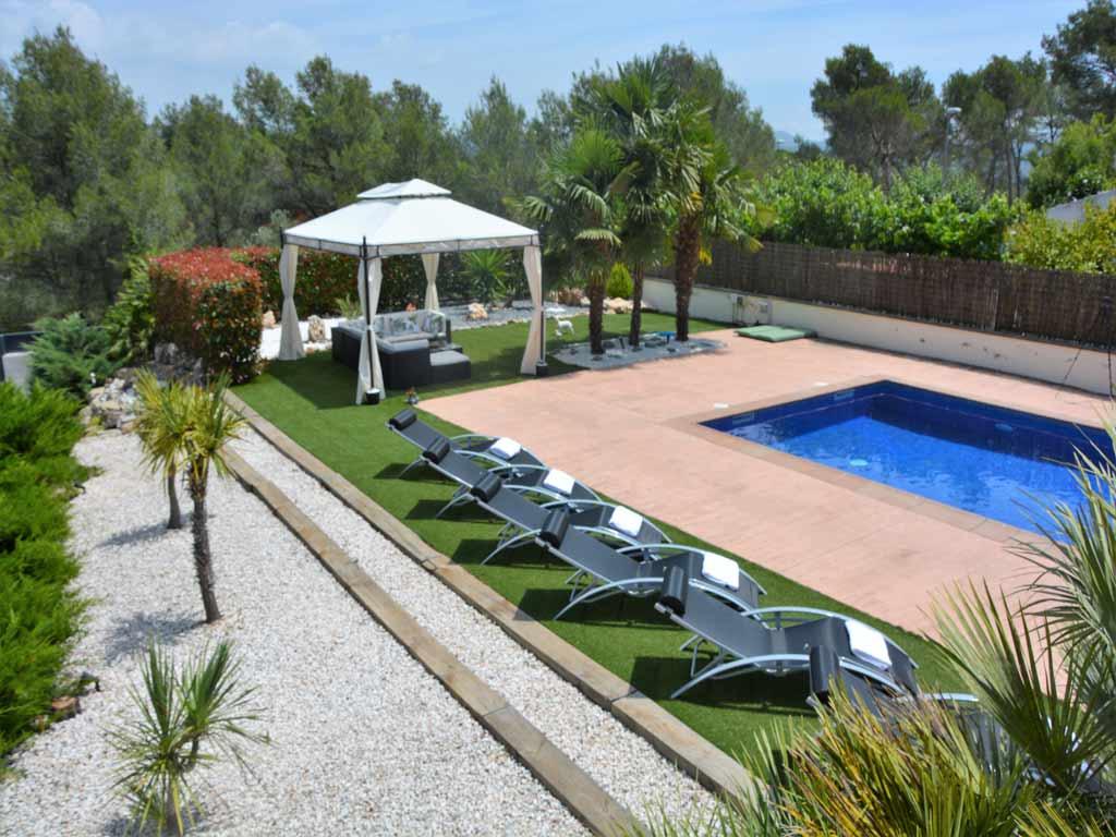 big villa in Sitges.