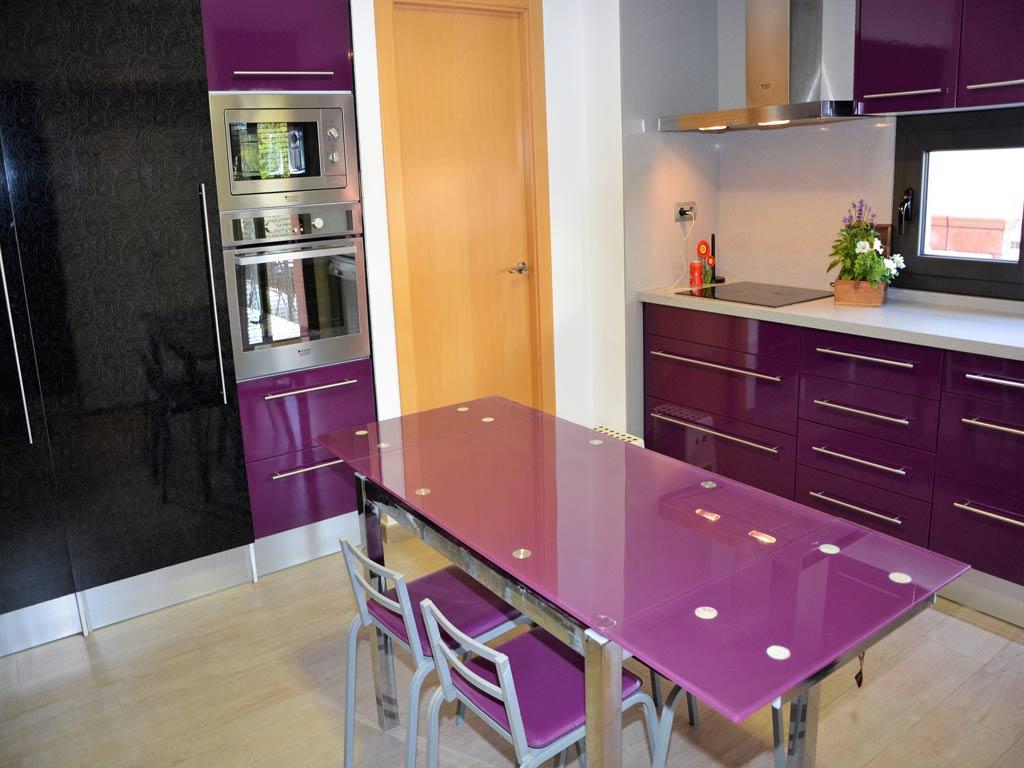 villa in Sitges with modern kitchen.