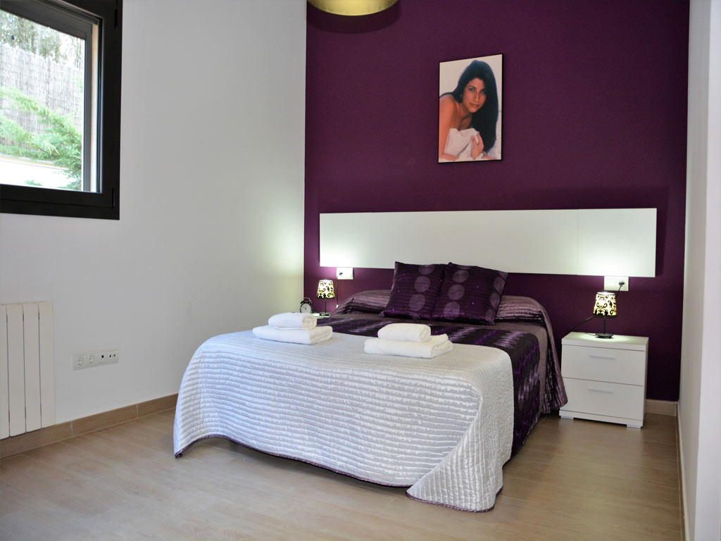 villa in Sitges with double bed.