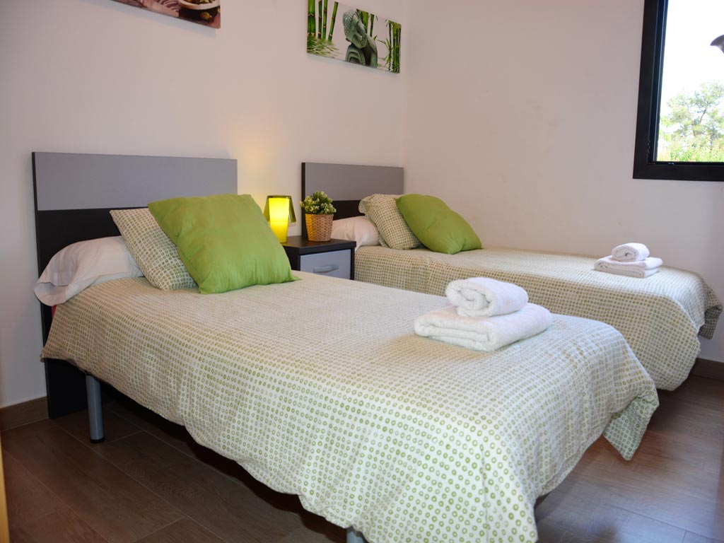 villa in Sitges with 2 individual beds.