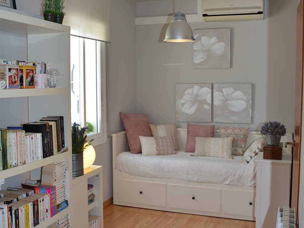 Location de Villa à Barcelone au bord de la mer: chambre pour 2 personnes avec lits individuels