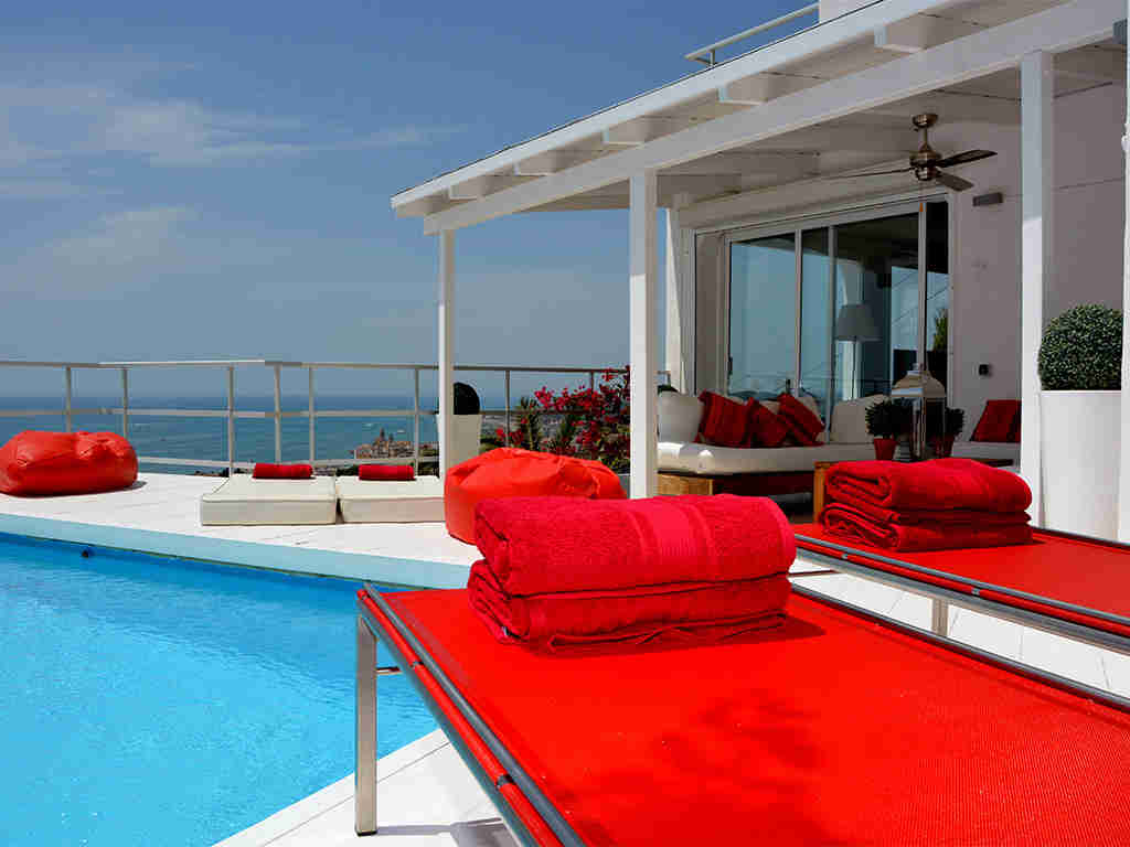 Location de Villa à Barcelone au bord de la mer: terrasse