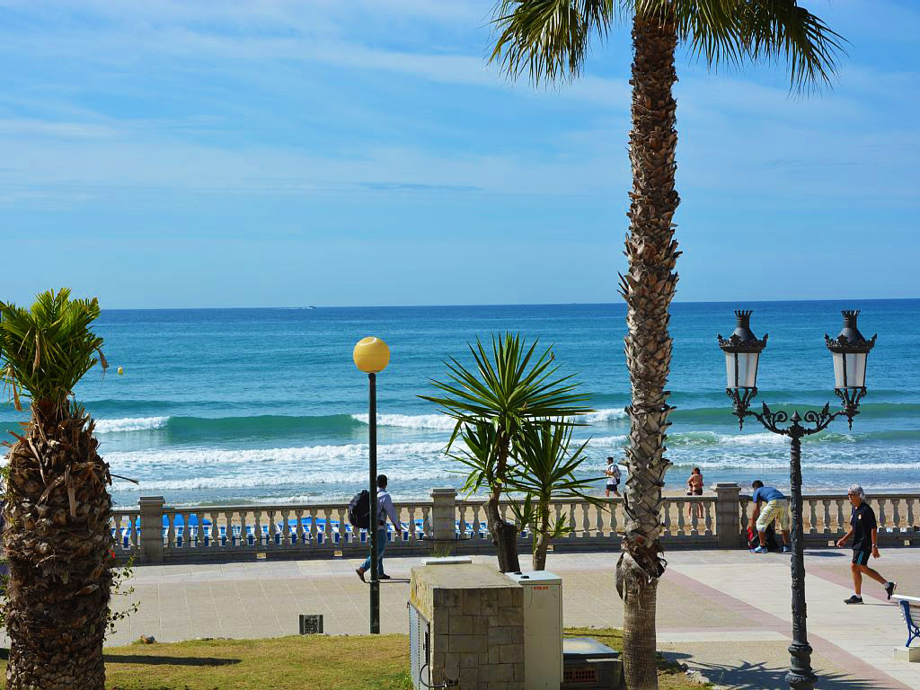 views from the apartment for holiday in sitges
