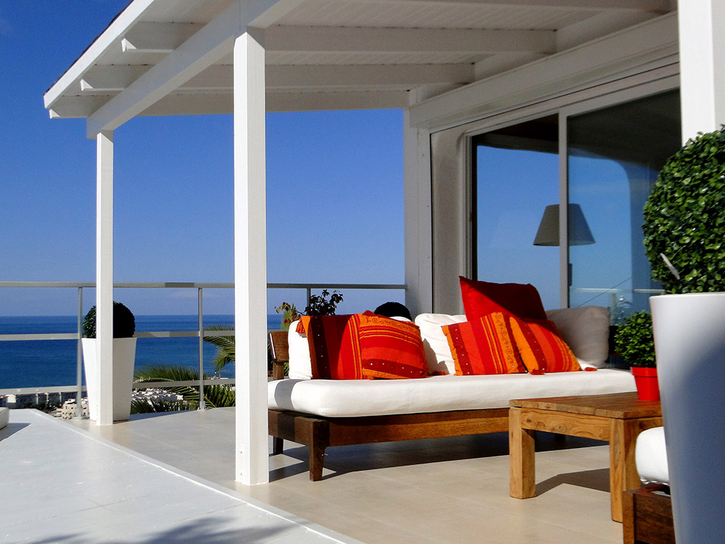 Location de Villa à Barcelone au bord de la mer: chill out pour 8 personnes