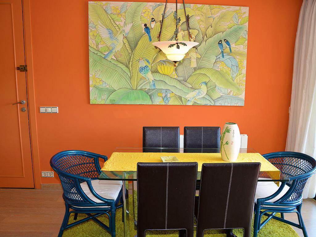 Appartement à louer à Sitges: salle à manger pour 6 personnes