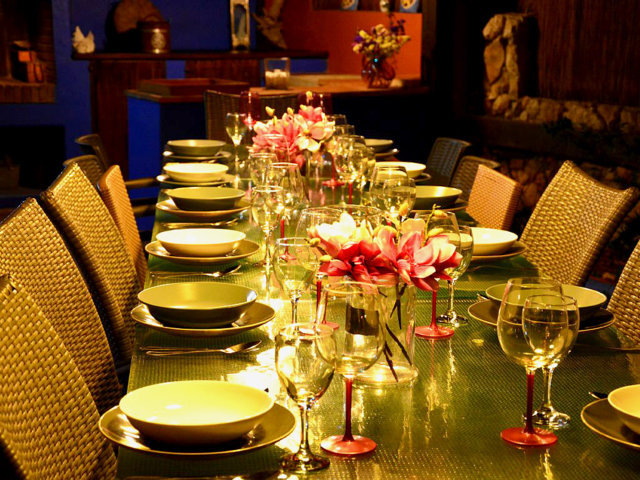 vacation home in sitges and its dinners by night