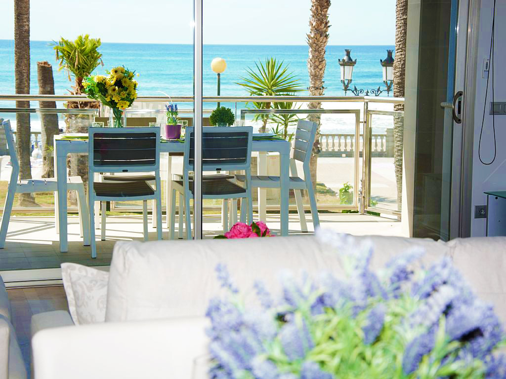 apartment for holiday in sitges and its terrace