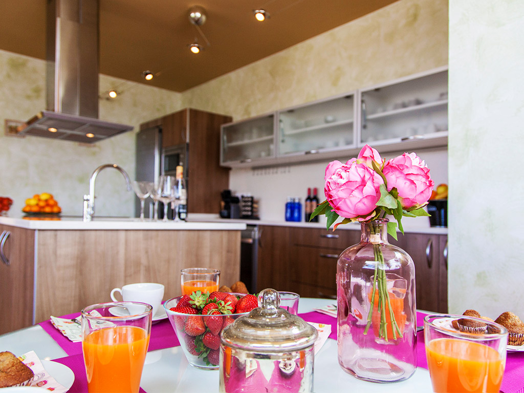 Villa à Barcelona avec piscine: cuisine moderne