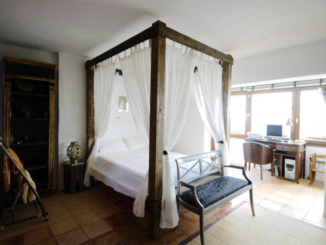 vacation home in sitges and its open bedroom