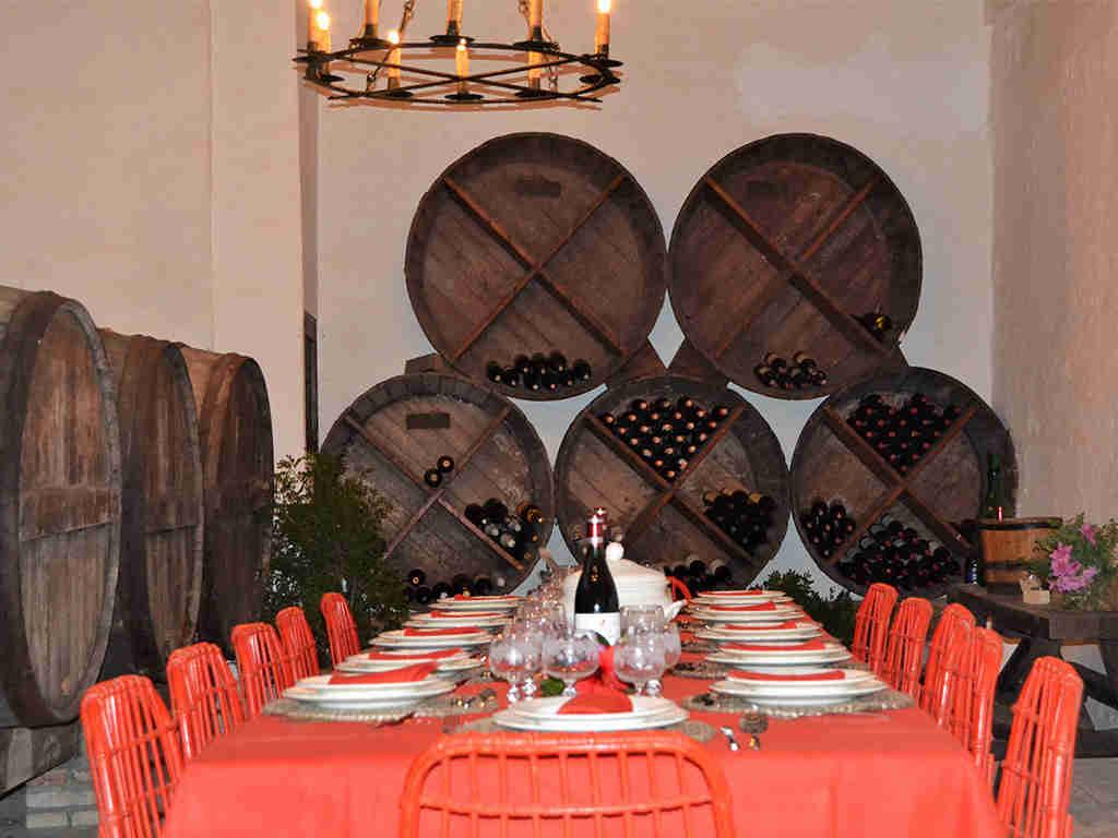 spanish farmhouse with private wine cellar