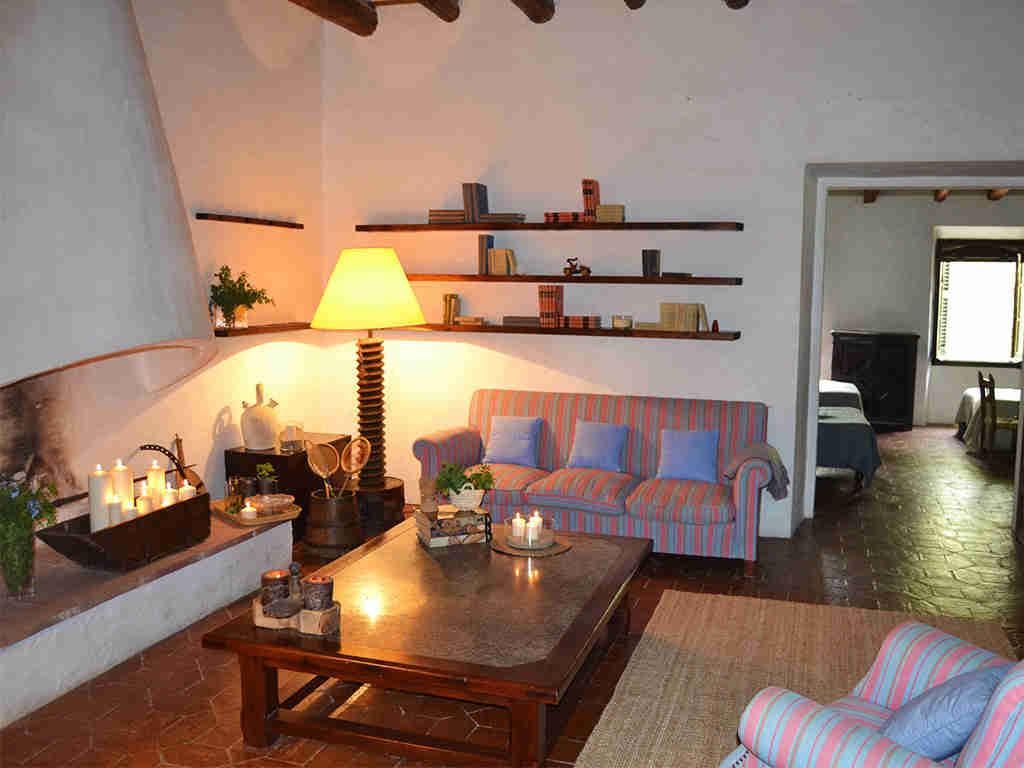 sala de estar de la casa rural en sitges