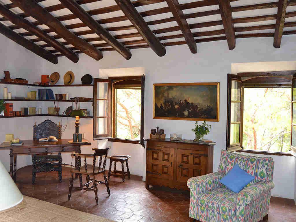 decoración rústica de la casa rural en sitges