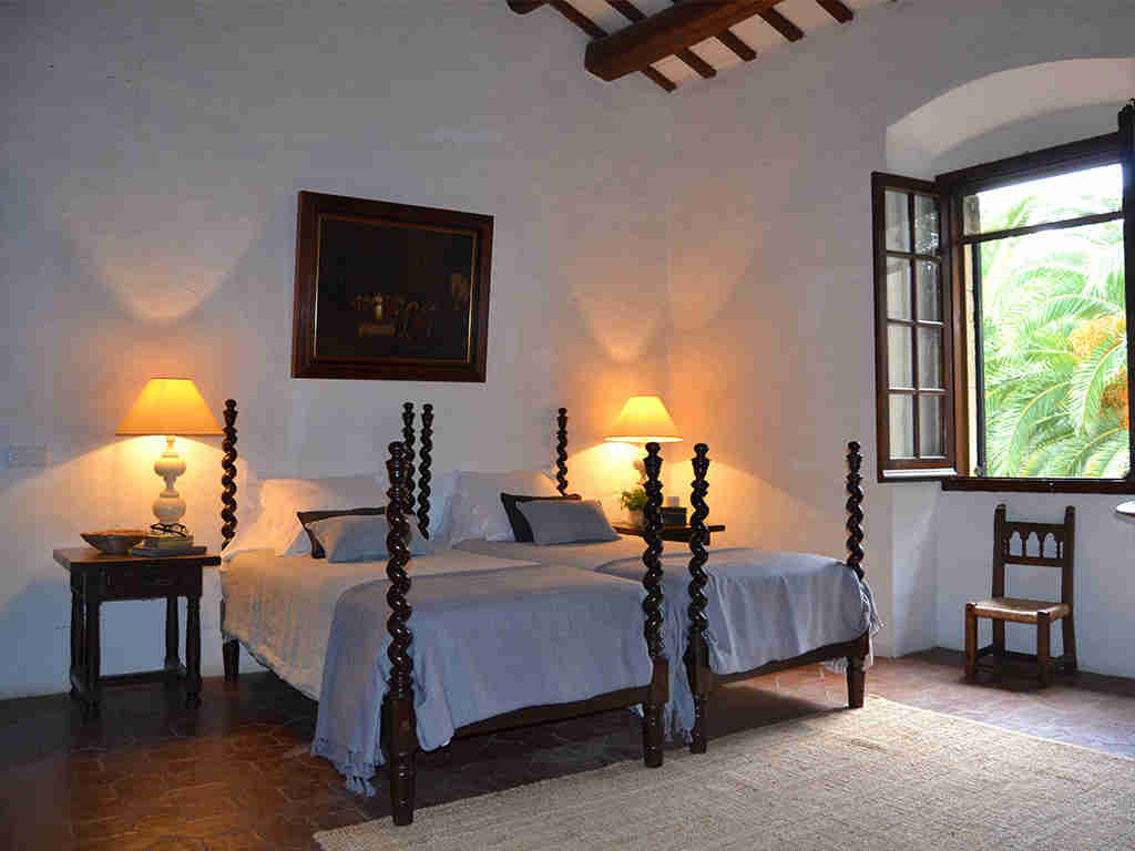 Location de Maison de vacances à Barcelone: chambre avec deux lits