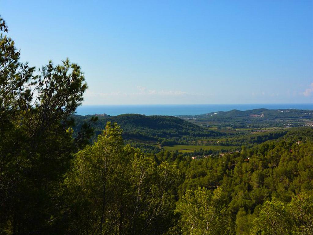 vistas del chalet para alquilar en verano en sitges