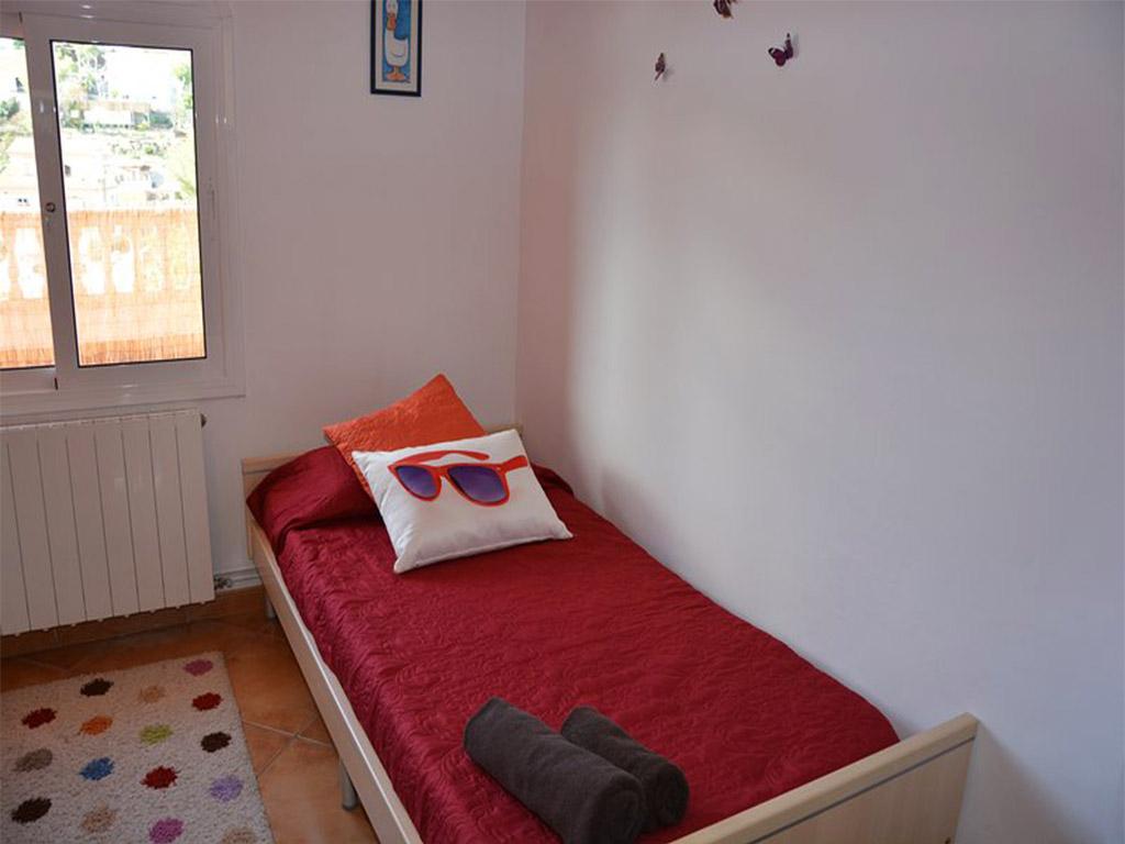 dormitorio de niños del chalet para alquilar en verano en sitges