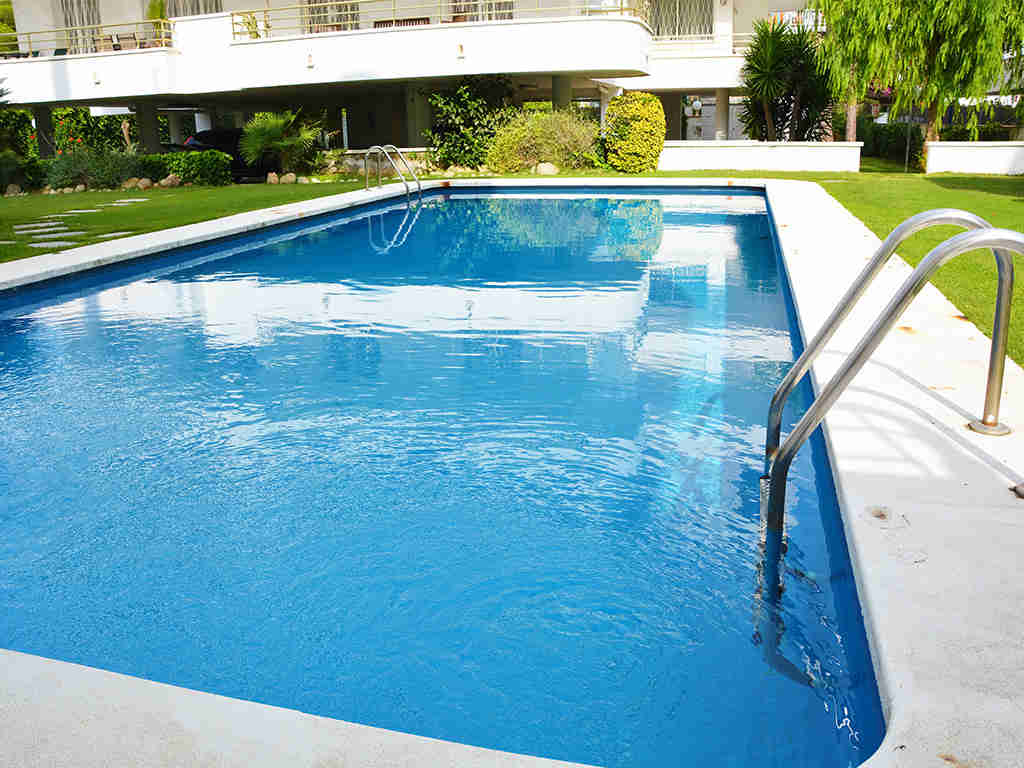 the sitges apartments with pool blue and large
