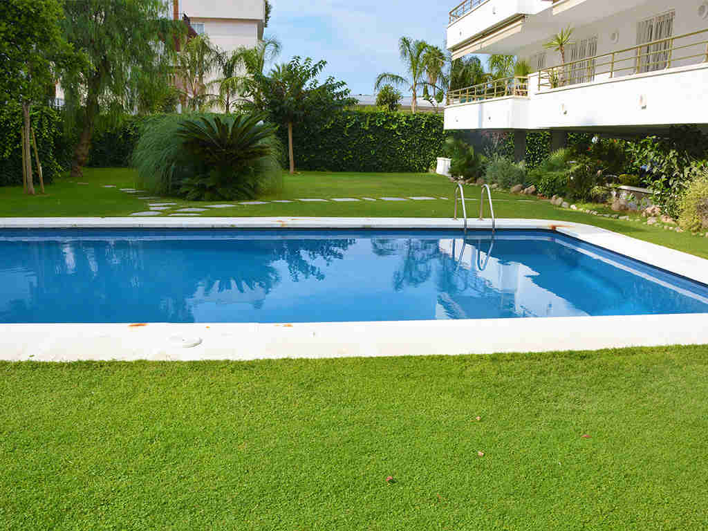 sitges apartments with pool and large garden
