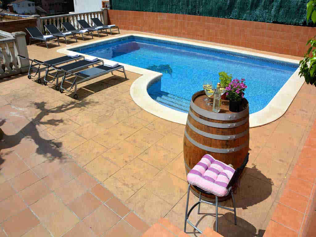 sitges villa with big pool.
