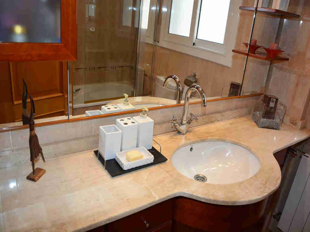 sitges villa with modern bathroom.