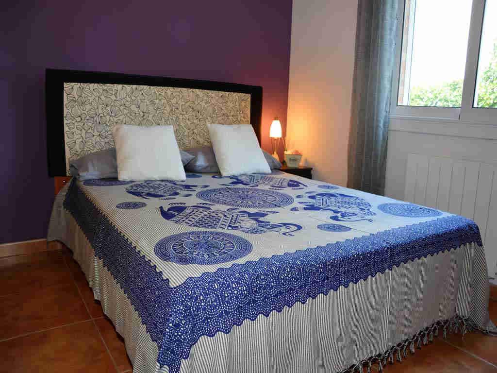 sitges villa with modern bedroom.