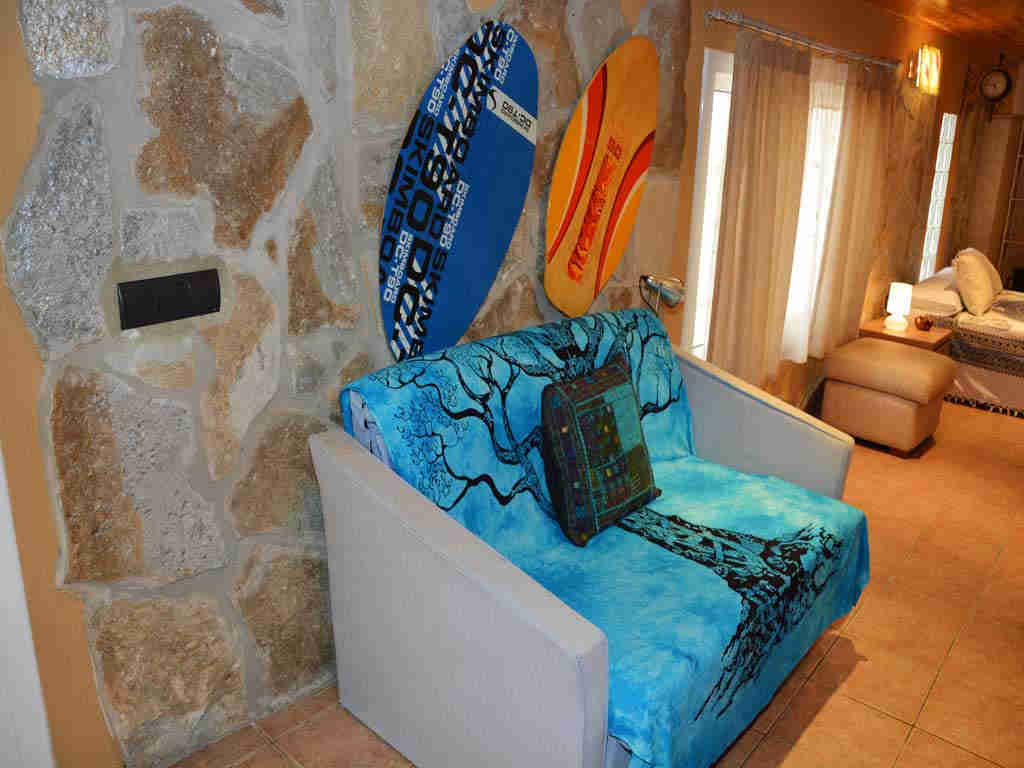 sitges villa with surfer armchair.