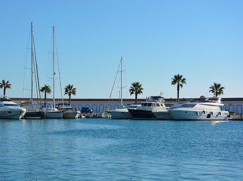Seafront Sitges villas near the Sitges Port