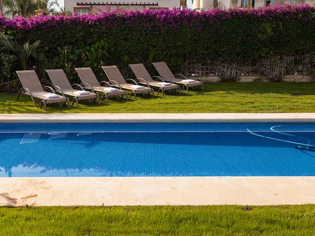 Villa vacacional en Sitges: piscina exterior