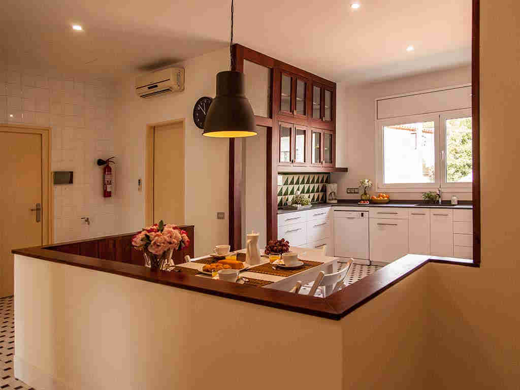 Sitges luxury villas with large kitchen