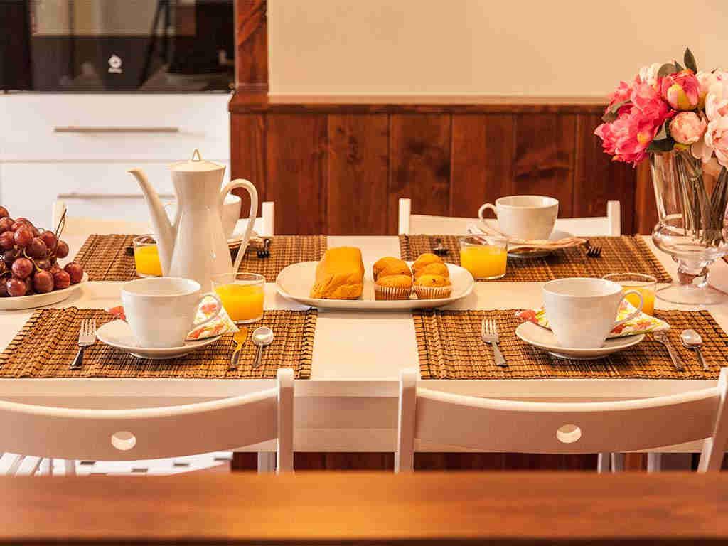 Villa vacacional en Sitges: desayuno