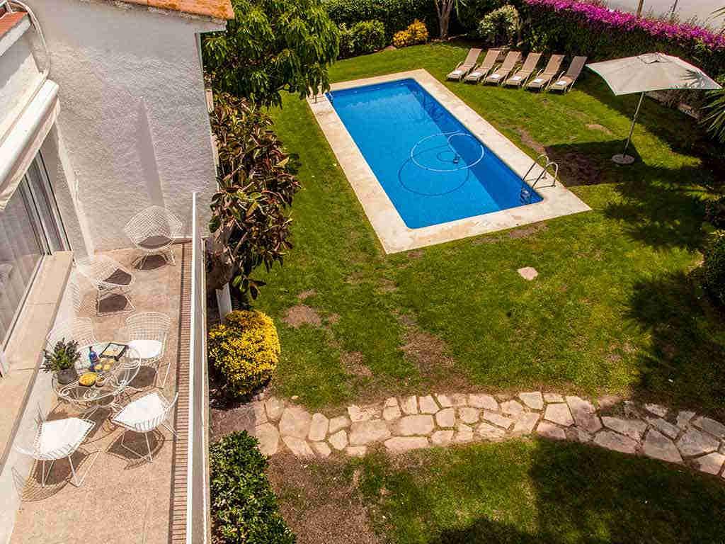 Vistas desde el solarium de la Villa vacacional en Sitges
