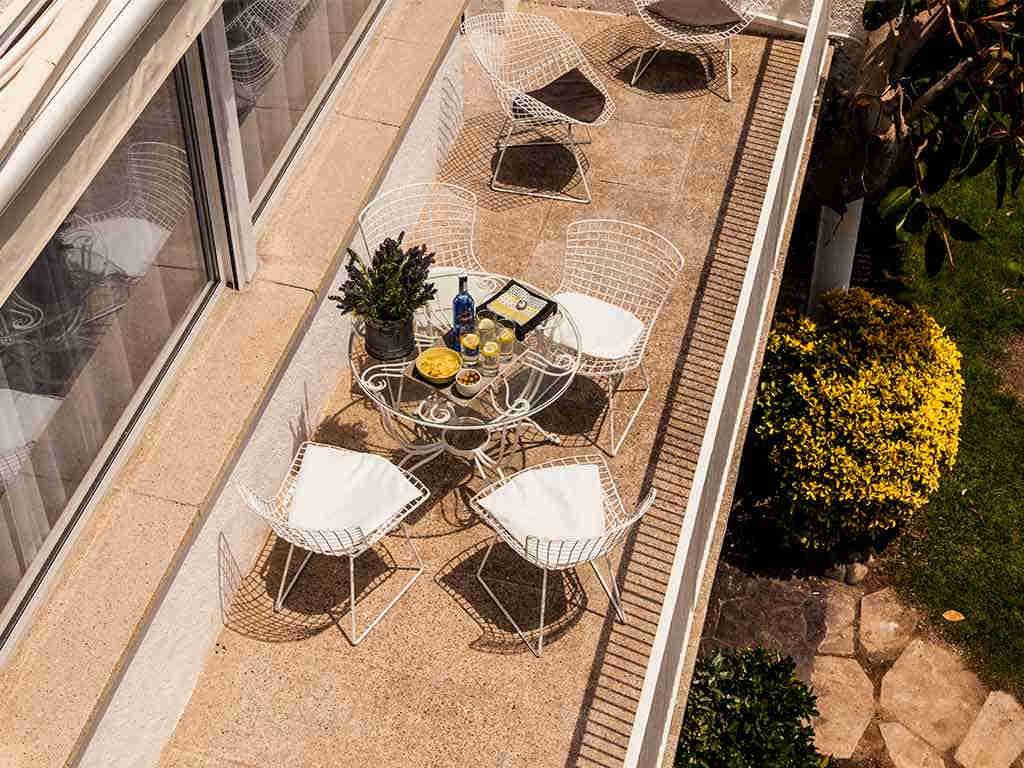 Villa vacacional en Sitges: vistas desde arriba de la segunda terraza