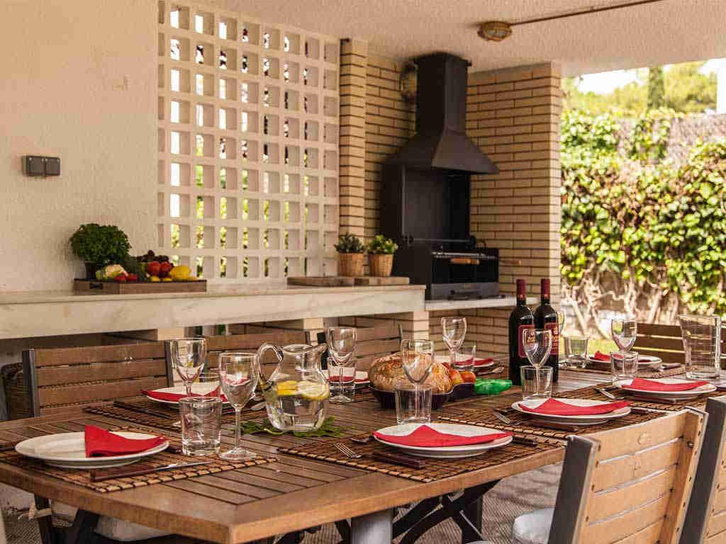 Villa vacacional en Sitges: barbacoa
