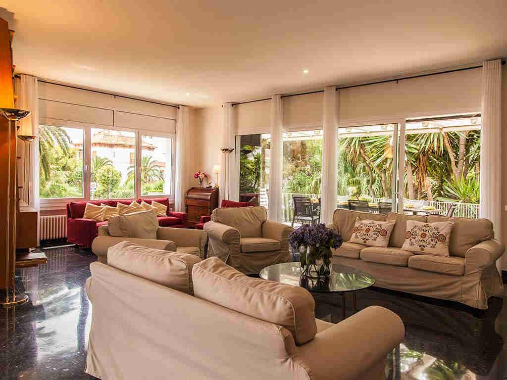 Villa vacacional en Sitges: salón