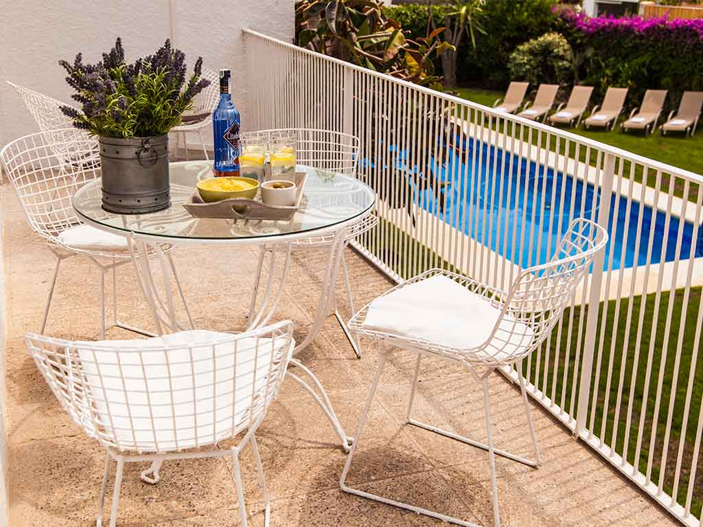 Villa vacacional en Sitges: segunda terraza
