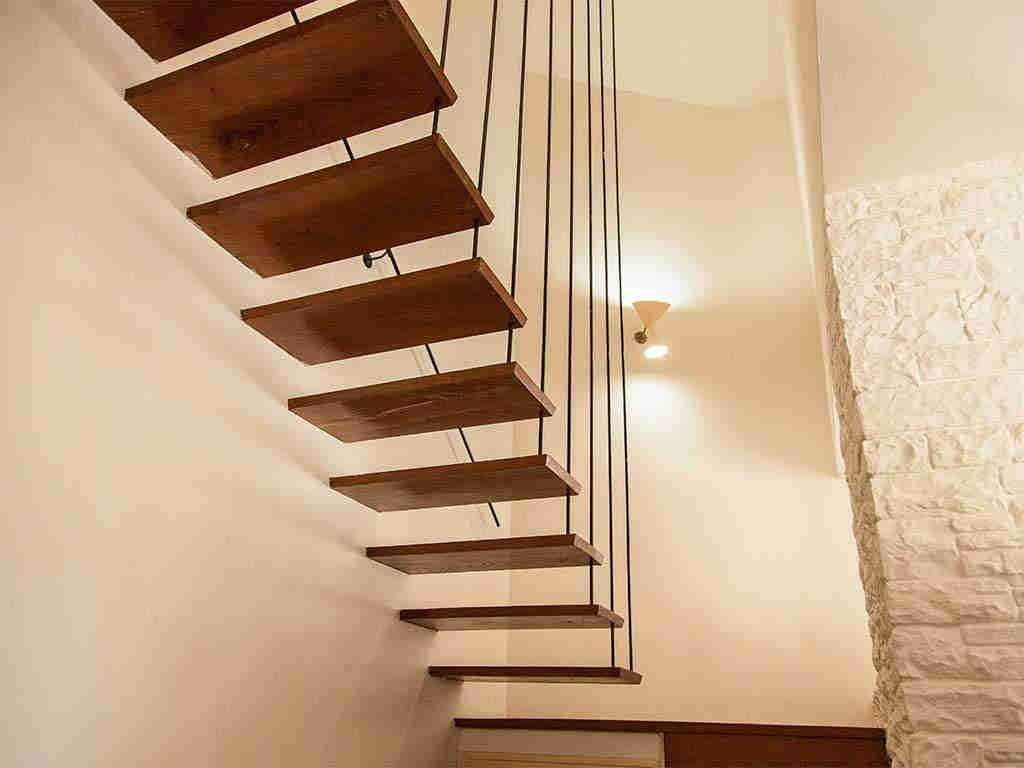 Villa vacacional en Sitges: escaleras
