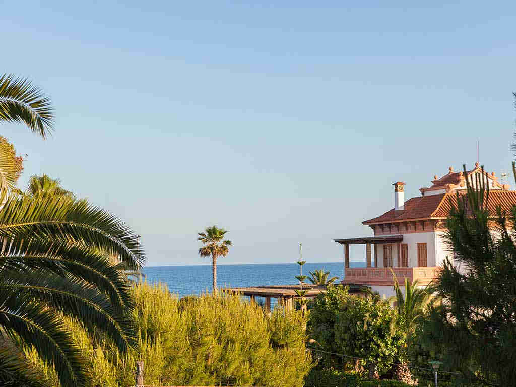 Sitges luxury villas with view on the sea