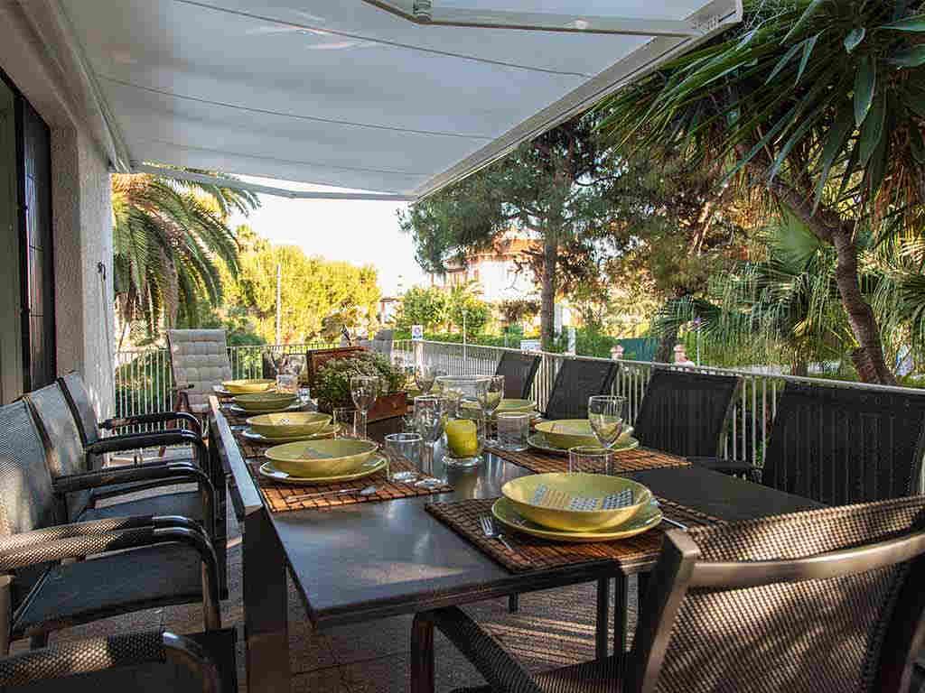 Villa vacacional en Sitges con terraza