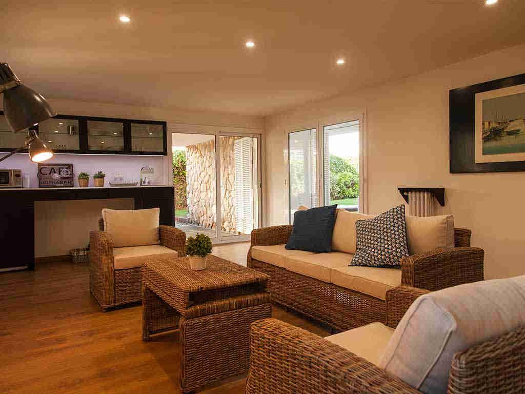 Villa vacacional en Sitges: chill-out interior