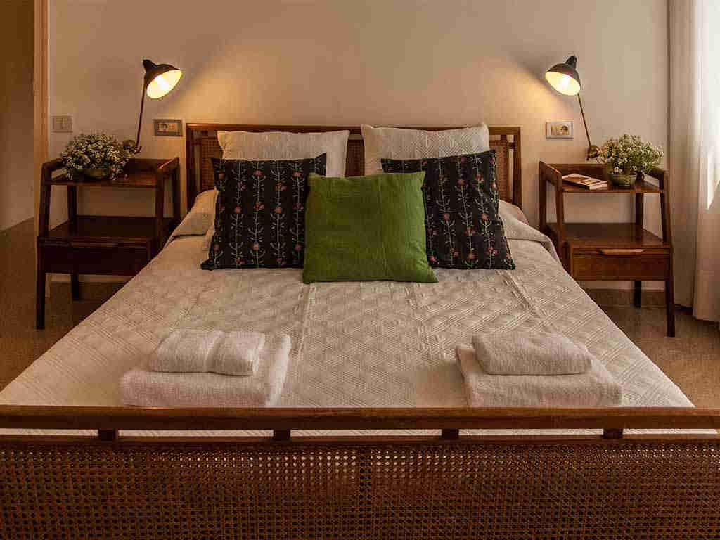 Villa vacacional en Sitges: habitación 2 con cama de matrimonio
