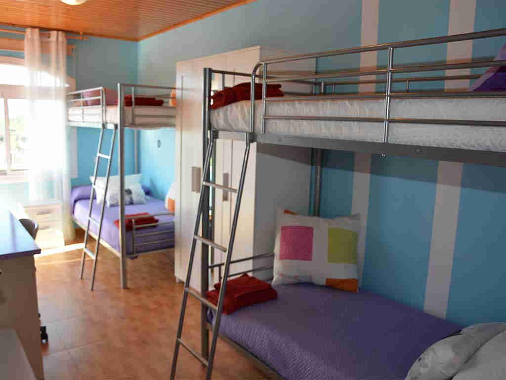 Casa de vacaciones en Sitges y su habitación para niños