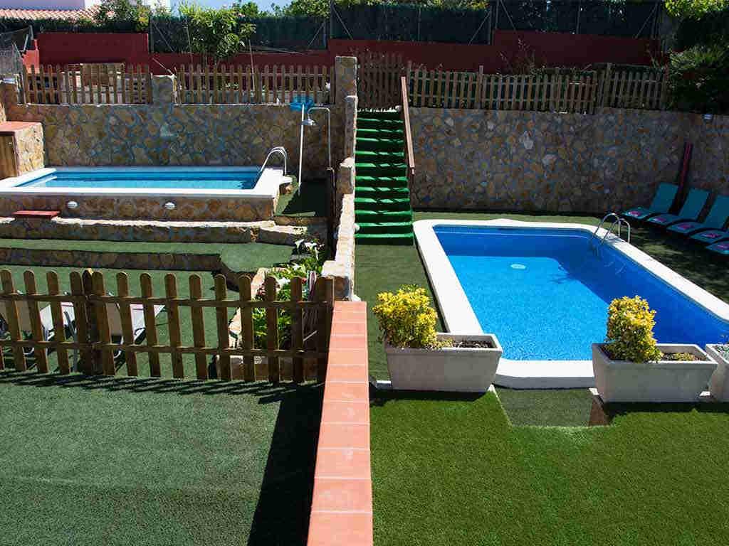 Casa de vacaciones en Sitges con dos piscinas privadas