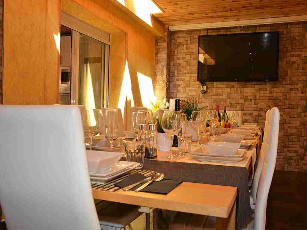 Comedor interior de la Casa de vacaciones en Sitges