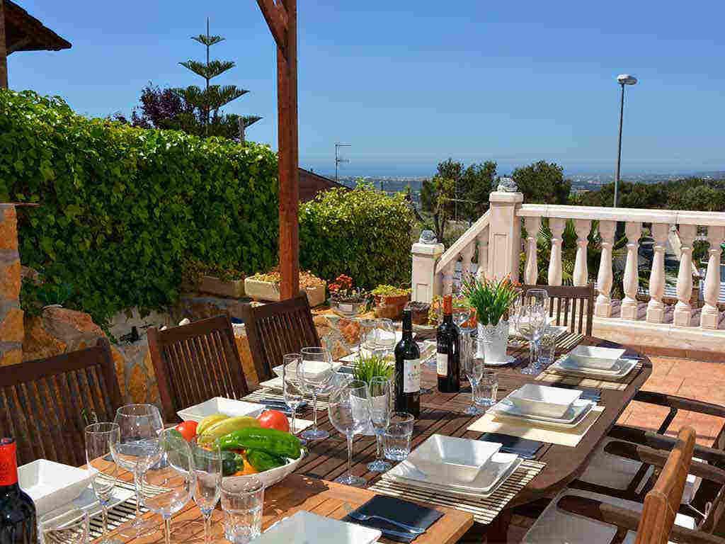 Comedor exterior de la Casa de vacaciones en Sitges