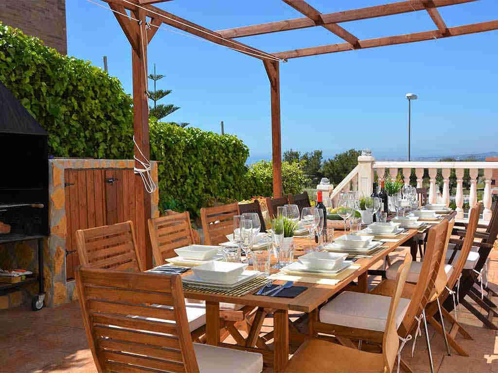 Casa de vacaciones en Sitges con comedor exterior