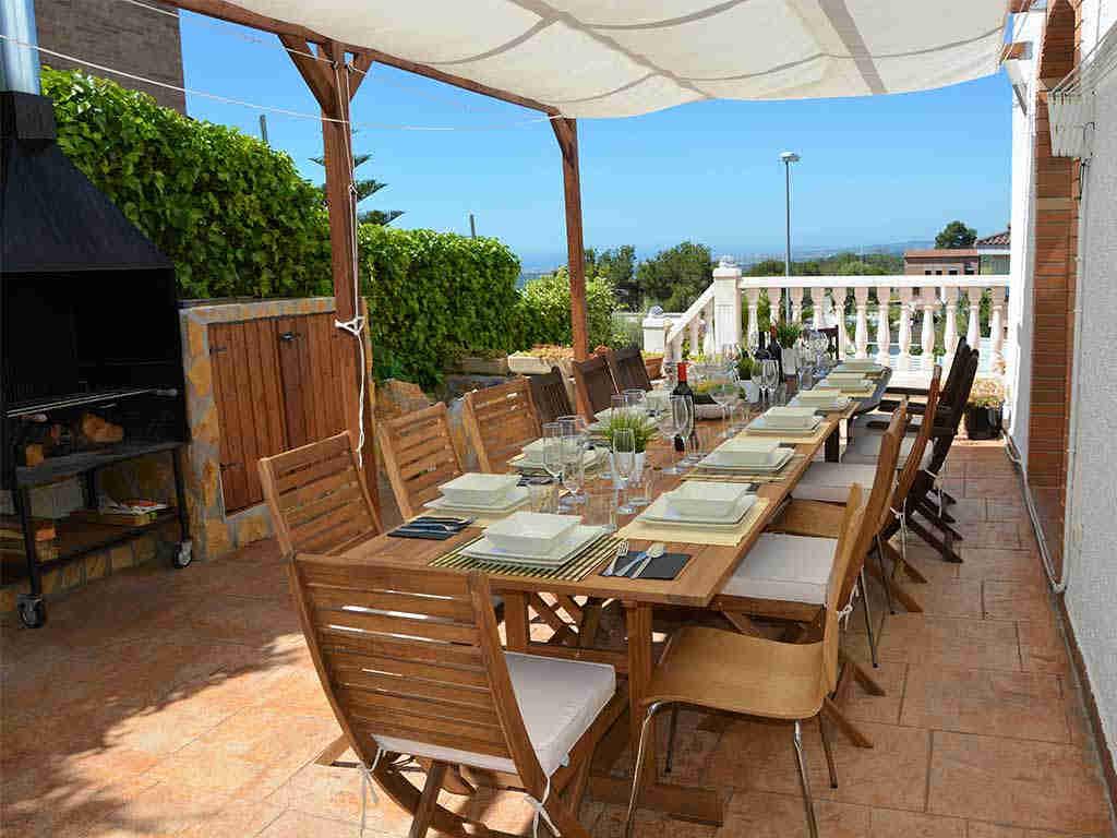 Casa de vacaciones en Sitges con comedor exterior para 10