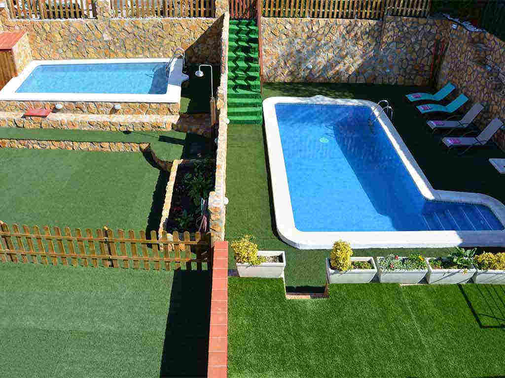 Sitges villa with 2 pools: one for cihildren and another for adults