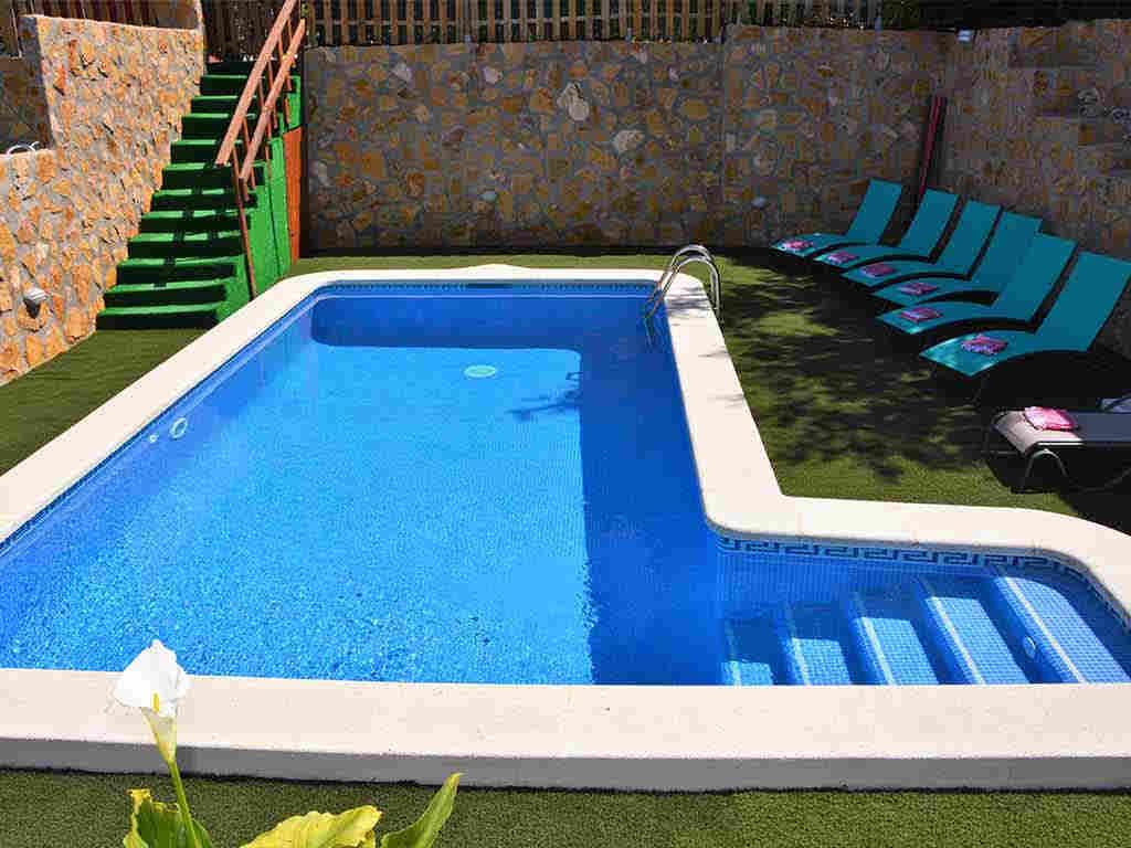 Sitges villa with 2 pools. Adult pools.